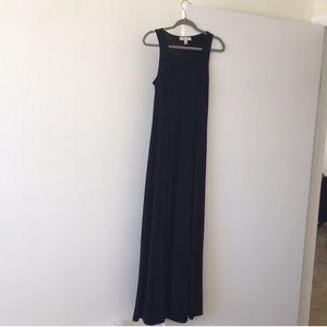 Michael Kors blue long dress with slit on leg